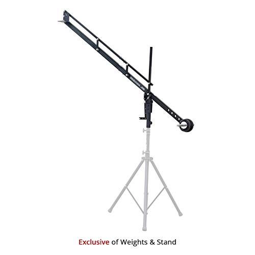 PROAIM 9ft Jib Arm for DSLR Video Camera up to 8kg/17.6lb   Adapts Fluid Camera Head, Pan Tilt, DJI Ronin Gimbals   for Tripod with 1.25 inch Pipe/Mast   Best Travel-Friendly Crane + Bag (P-9)