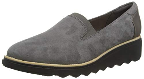 Clarks Damen Slipper, Grau (Grey Suede), 38 EU