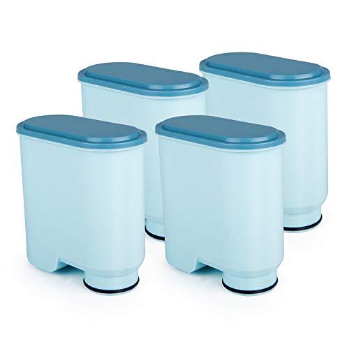 Rhodesy Filtro Dell'acqua per Macchina da Caffè CA6903, Filtro Anticalcare AquaClean CA6903 Compatibile per Macchina da Caffè Automatica AquaClean (4 Pezzi)