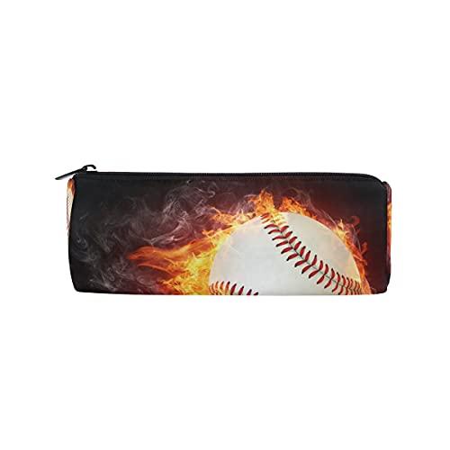 HaJie Estuche para lápices de béisbol con cremallera, bolsa organizadora de papelería, para niñas, niños, mujeres y hombres