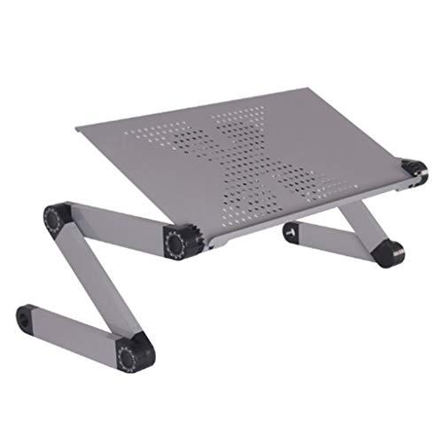 NYDZ inklapbaar tafelblad voor laptop en Mickey rand, de draaibare delen kunnen 360 graden draaien, 420 x 260 mm