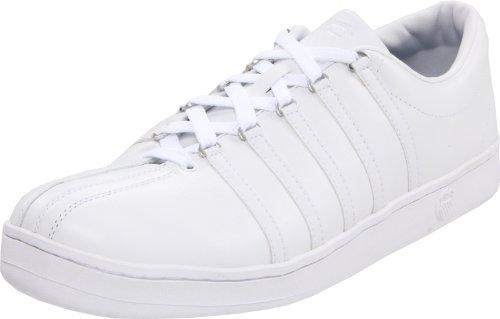 K-Swiss 02248-101-M THE CLASSIC, Herren Sneaker, Weiss (white/white), EU 42, (UK 8)