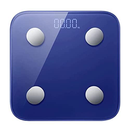 Goodvk Básculas de Grasa Corporal Inteligentes Escala De Grasa Corporal Smart Bluetooth 5.0 DIRIGIÓ Escala De Peso De La Prueba De Balance De La Pantalla Digital Fácil de Configurar