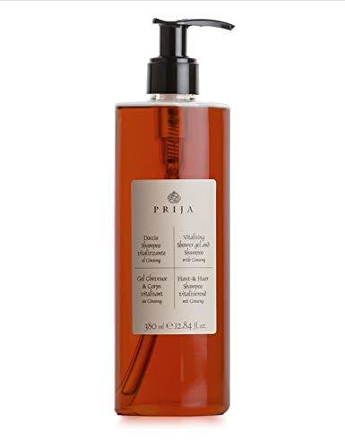 Prija Hair & Body mit Ginseng 380ml inkl. Pumpspender Haarshampoo Duschgel
