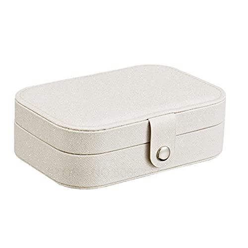 N / B Caja de joyería pequeña, Caja de joyería de Viaje para Mujeres, Mini Caja de Viajes portátil de Doble Capa Cajas de Soporte de Almacenamiento,