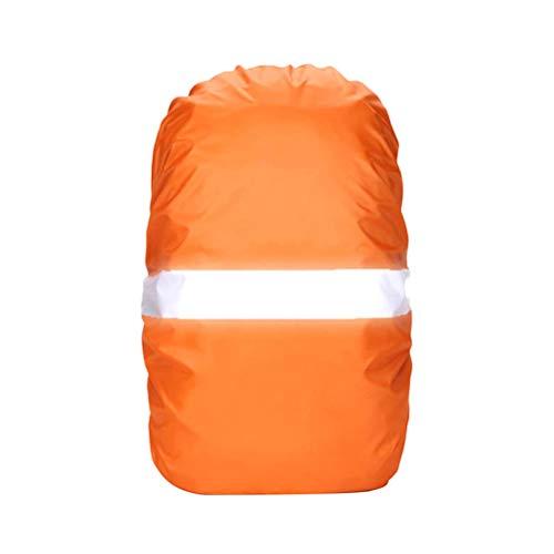 VORCOOL Sac à Dos Housse imperméable à l'eau Housses de Protection avec Bande réfléchissante pour la randonnée Camping Escalade Vélo Taille M (Orange)