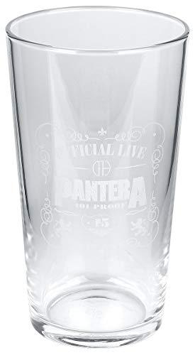 Pantera 101 Proof Unisex Vaso de cerveza transparente, vidrio,