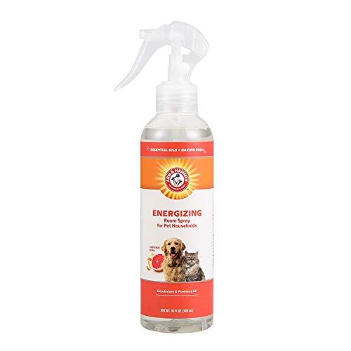 Arm & Hammer Air Care Energizing Room Spray for Pet Odor Elimination   10 oz Grapefruit Neroli Fragrance Air Freshener Spray   Pet Deodorizer Spray with Baking Soda for Pet Households