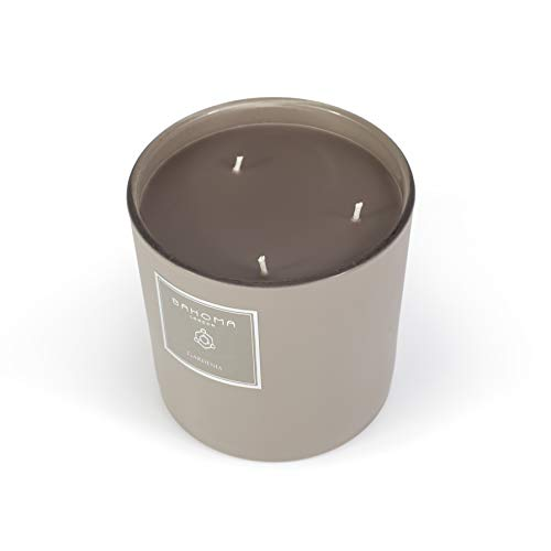BAHOMA London Sand Collection Extra Large Fragranced 3 Wick Candle : Gardenia