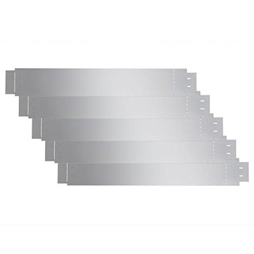 Set 5 pièces bord gazon flexible en acier galvanisé 100 x 15 cm. Ce bord de clôture de haute qualité sont Flexible et peut être plié en toute forme avec facilite