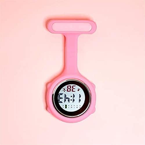 HGJINFANF Kleine Schwesternuhr Krankenschwester Watch Brosche FOB Krankenschwester Brosche Stift Hängen Tasche Elektrische Uhr Digitalanzeige Zifferblatt Clip-On Taschenuhr Uhren Hängende Taschenuhr