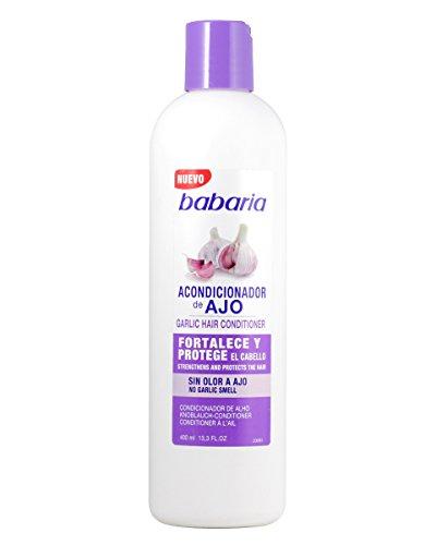 Babaria Acondicionador Capilar de Ajo Fortalecedor - 400 ml, Blanco (8410412021050)