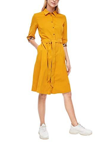 s.Oliver Damen Kleid kurz Yellow 38