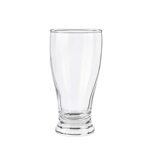 YONGMEI Copa de Vino - Copa de Cerveza de Vidrio de 375 ML,