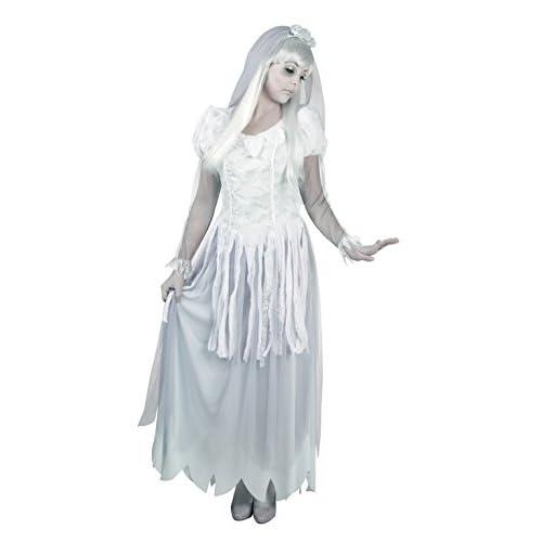 Boland- Costume Donna Sposa Fantasma Ghost Bride per Adulti, Bianco, Taglia 40/42, 79035