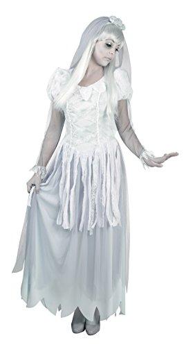 Boland 79035 - Erwachsenenkostüm Geister-Braut, Größe 40 / 42, weiß