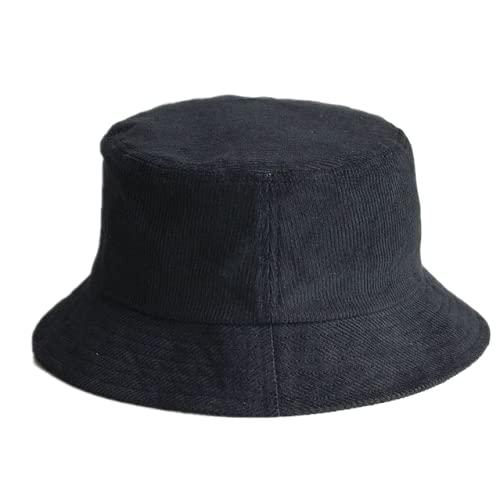 Qb Sombrero de Pescador de Gran tamaño Sombrero de Cubo de Pana Unisex