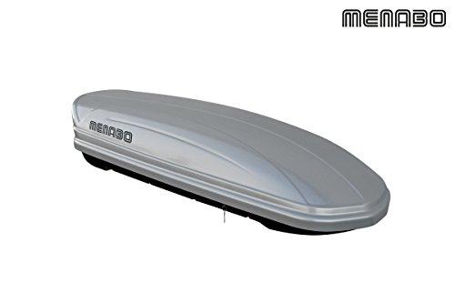 Menabo - Cofre Techo con Llave Mania - 400 L - Plata