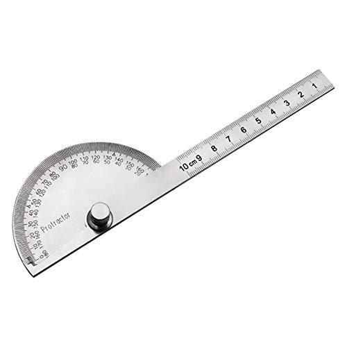 Transportador de ángulo, acero inoxidable de 0 a 180 grados ajustable buscador de ángulo herramienta de medición, regla de ángulo universal para pintar dibujo