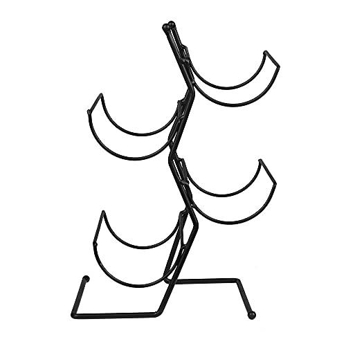 Portabottiglie per vino creativo a forma di albero Portabottiglie in metallo nero per 4 bottiglie per o da appoggio