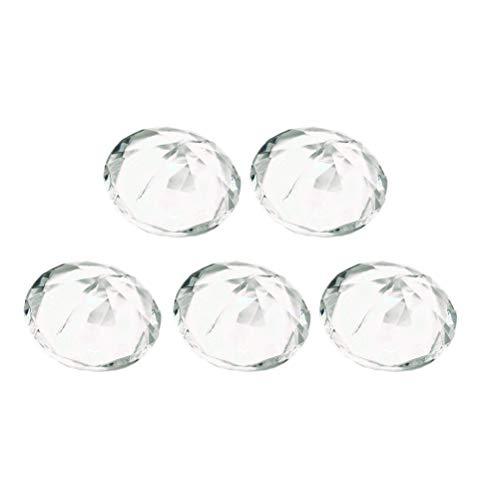Supvox 5 stücke Diamant Name Kartenhalter Tischkartenhalter für Hochzeit (Transparent)