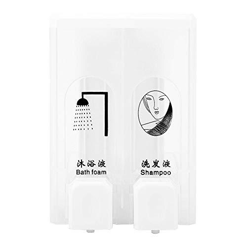 Oumefar Fácil de rellenar exquisito dispensador de jabón dispensador de gel de ducha para dispensador de desinfectante de hotel