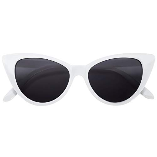 OWL Cateye Sunglasses for Women Classic Vintage High Pointed Winged Retro Design