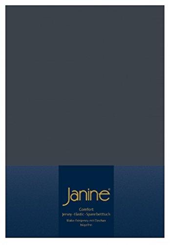 Janine Elastic-Jersey-Spannbetttuch 5002 Fb 78 titan 140x200 - 160x220