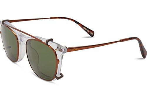TOMS 10009574 Herren Maxwell Vintage-Rahmen Grüne Gold Lens Square Sonnenbrillen