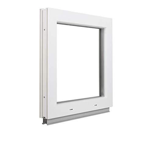 Alle Grössen Festverglasung Kunststoff Fenster - Kellerfenster BxH: 100 x 80 cm weiß fenster- Doppelverglasung Fenster Für Gartenhaus/Garagen Fenster -Premium Kunststofffenster BxH: 1000 x800 mm