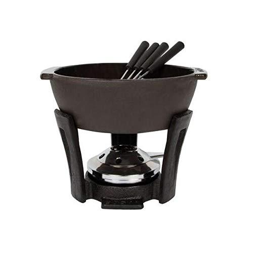 Boska Juego de fondue de queso Party Pro - De hierro fundido - Apto para cada estufa - 2 a 4 personas - Negro - 900 ml