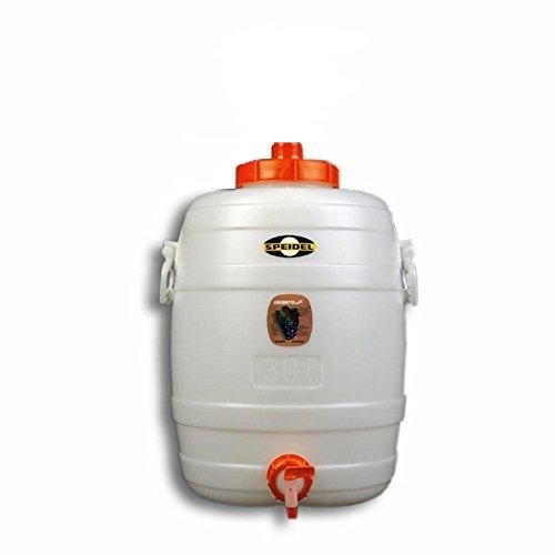 Speidel Contenedor de Bebidas Cubeta fermentador Redondos 30 L + 1 Grifo plástico Ø 10 mm (90022)