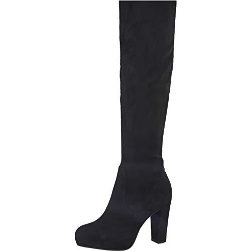 Tamaris Damen Stiefel, Frauen Overknee Stiefel,lose Einlage, sexy high Heels weiblich Lady Ladies Women's Women Woman Abend,Black,38 EU / 5 UK