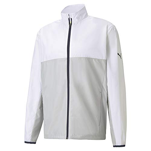 PUMA Chaqueta cortavientos para hombre 599128 First Mile, Hombre, 599128, Light White High Seat, medium