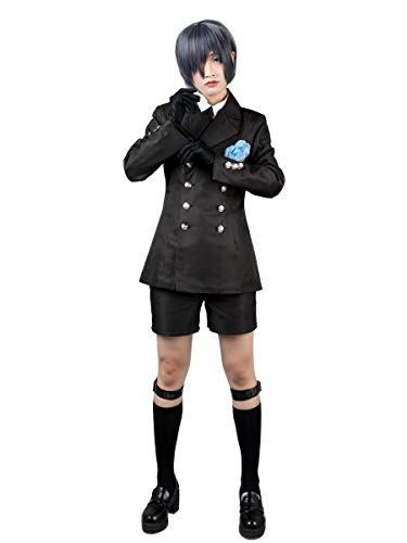 Cosfun Black Butler Ciel Phantomhive Beerdigung Uniform Cosplay Kostüm MP004170 -  Schwarz -  Medium