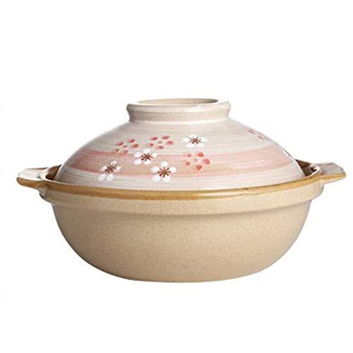 Pentola per casseruola in terracotta Pentola per stufato in terracotta Casseruola in ceramica Pentola per argilla - Durevole, resistente al caldo e al freddo, alimentazione migliorata, capacità 1L-C