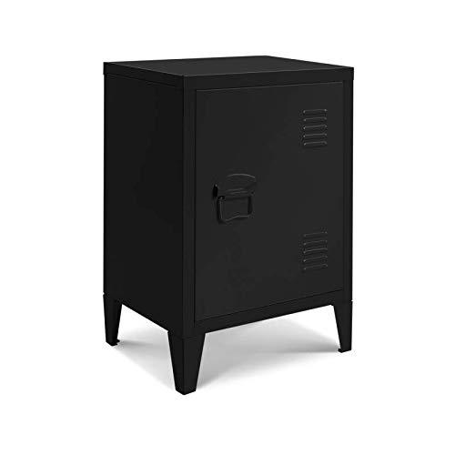 IDMarket - Table de Chevet Estel en métal Noire