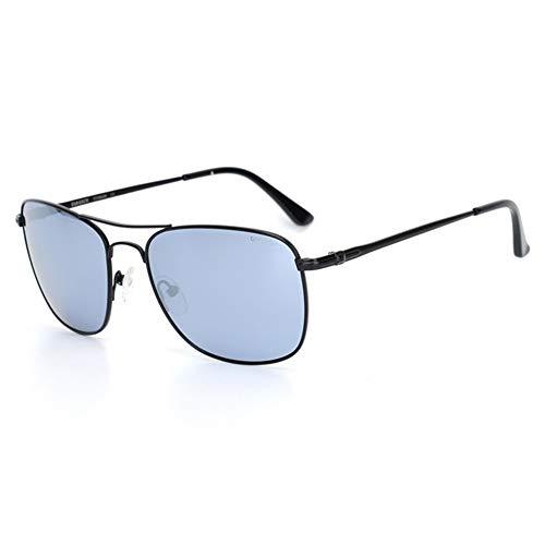 Raxinbang Gafas de Sol Gafas De Sol Azul Verde Gris UV400 for Hombre Gafas De Conducción Cómodas De Titanio (Color : Gray)