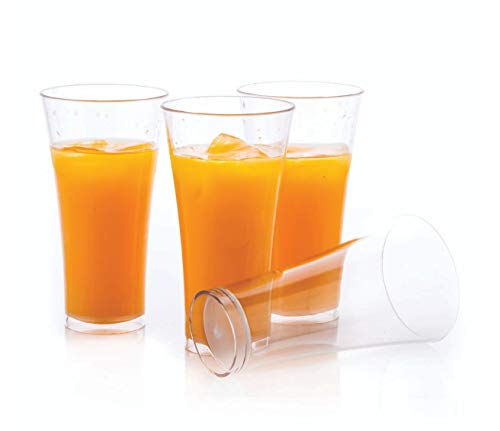 Slings Unbreakable Plastic Glass Set of 6, Water Glass, Juice Glass, Tumbler Set 300ml (Stylic)