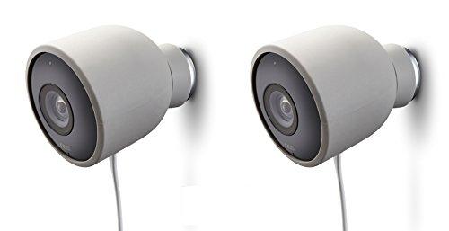 Cover in silicone colorato per Videocamera di sicurezza Nest Cam per esterni – resistente ai raggi UV e alle diverse condizioni meteo di Wasserstein (2 Pack, Grigio)