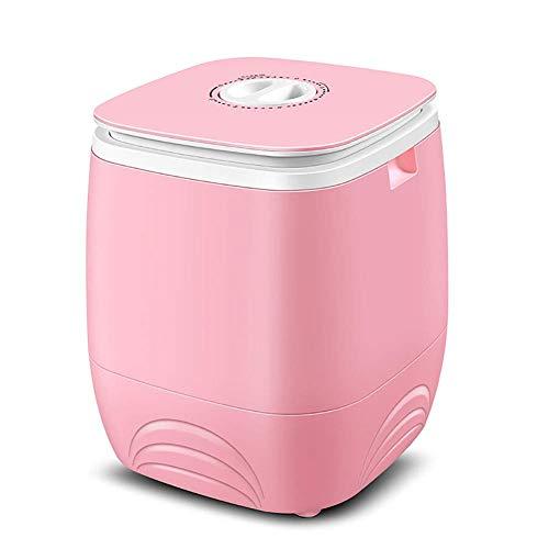 Kücheks Combinación de Mini Lavadora y Secadora de Centrifugado compacta para niños, Lavadora de esterilización BLU-Ray silenciosa portátil Lavado de 4.5 kg + Secado de 2 kg