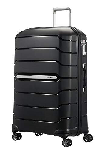 Samsonite Flux Spinner L Valigia Espandibile, 75 cm, 111 L, Nero (Black)