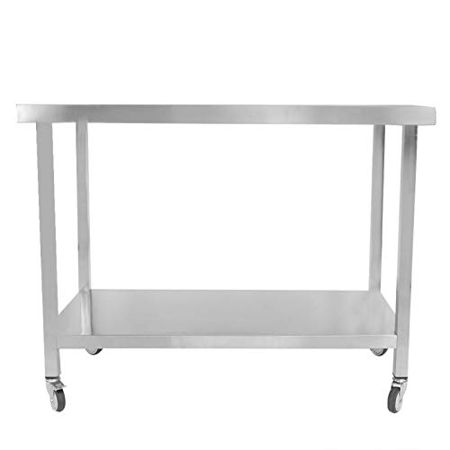med hjul köksbänk Konserveringsbänk Lätt att installera rostfritt stål för tvättstuga för mellanmål