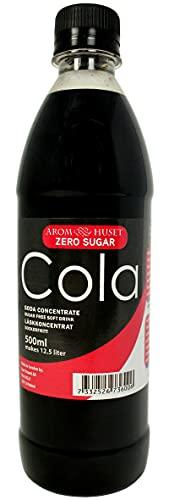 Zero Cola Getränkesirup - 500 ml - Funktioniert mit allen Wassersprudler - Geben 12,5 liter