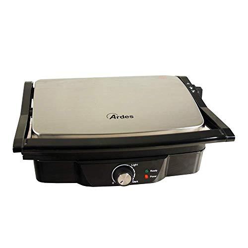Ardes AR1S20 SFIZIO Piastre Rigate Antiaderenti Basculanti Inox Griglia Elettrica Apertura 180°