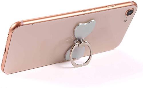 MuStone Soporte de anillo para teléfono móvil, forma de mariposa, soporte de anillo de soporte para teléfono móvil, rotación de 360 grados, soporte de metal para todos los phones, iPhone, Samsung