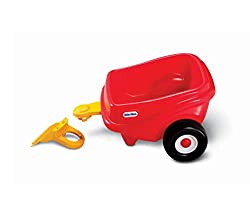 GIVE DOLLS & TOYS A RIDE - Children will have fun giving their favourite dolls and toys a ride! Ages: 18 months to 5 years INDOOR & OUTDOOR PLAY - Trailer is designed for both indoor and outdoor play USE AS STORAGE SPACE - Trailer can be used to stor...
