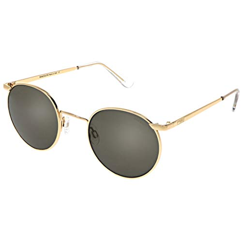 Randolph P3016 Unisex Gold 23K Rahmen Grau AR Objektiv Aviator Polarisierte Full Rim Sonnenbrille