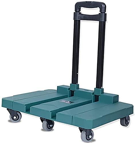 WSVULLD 3 en 1 Saco de Aluminio Barrows Telescópico Plegable Plegable Saco de Saco Trucks180kg PEABLE Sack Sack Track Track Carrito en la Rueda Mano Trolley Carrito Carrito Coche con 6 Ruedas, Rojo