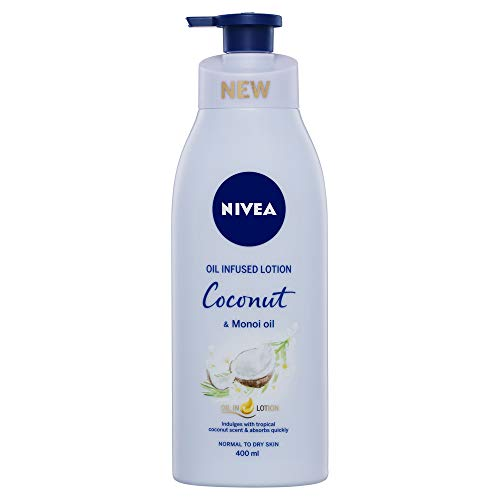 NIVEA Body Oil in Lotion Coconut & Monoi Oil. Scented Moisturiser for Normal to Dry Skin, 400 ml